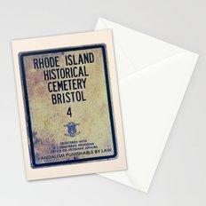 Historical Cemetery Bristol, RI Stationery Cards