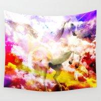 unicorn Wall Tapestries featuring Unicorn  by haroulita