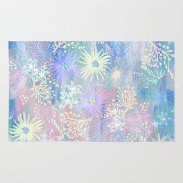 Eden Floral Pastel Blue Rug