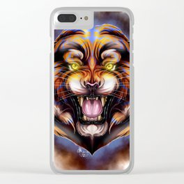 Electric Tiger Clear iPhone Case