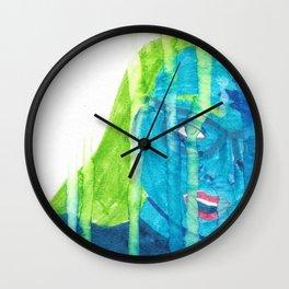 Feelin' Blue in the Rain Wall Clock