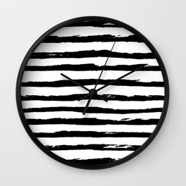 Ink Stripes Wall Clock