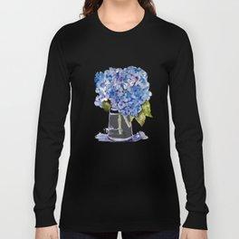 Hydrangea painting Long Sleeve T-shirt