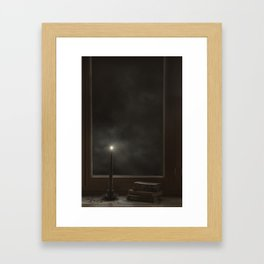 candle in the window Framed Art Print