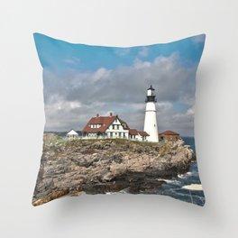 Port Head Lighthouse Throw Pillow