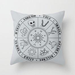 Pagan Calendar Line Throw Pillow