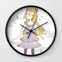 luna lovegood Wall Clocks featuring Luna at Christmas by rapunzette