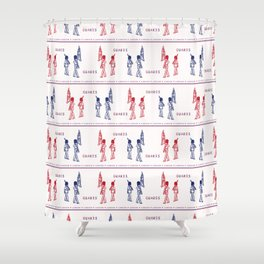 Sketchy London Royal Guard seamless pattern. Shower Curtain
