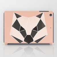 badger iPad Cases featuring Grafic Badger by Fanny Öqvist Westerberg