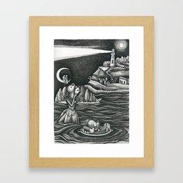 evenings with yalom Framed Art Print