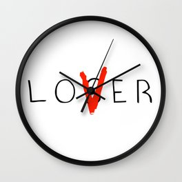 Loser and Lover Wall Clock