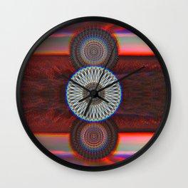 Three Mandalas Wall Clock
