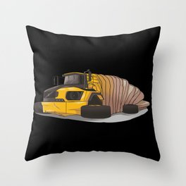 Articulated bread Throw Pillow