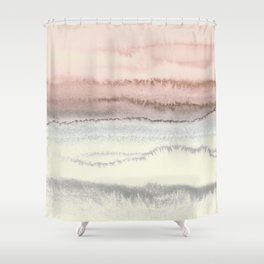 WITHIN THE TIDES - SNOW ON THE BEACH Shower Curtain