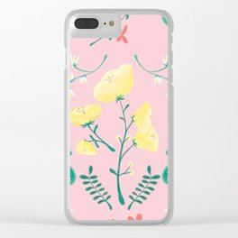 Candy Painted Spring Florals by Elizabeth Caparaz Clear iPhone Case