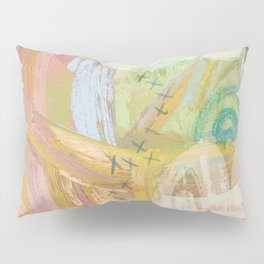 Shapes and Layers no.31 - Abstract paintings with texture Pillow Sham