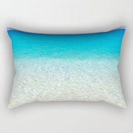 tranquil beach water Rectangular Pillow