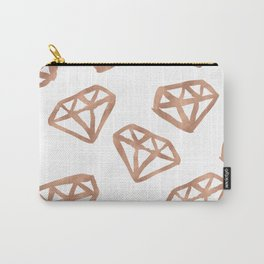 Rose gold diamond print Carry-All Pouch