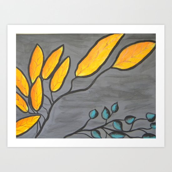 Leaves of Color Art Print