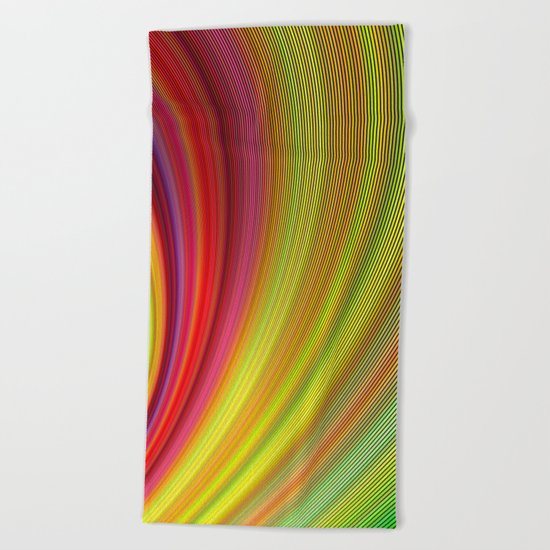Vivid space Beach Towel