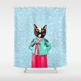 Jade and Pearl Shower Curtain