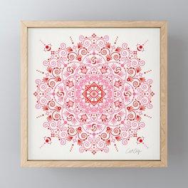 Moroccan Mandala – Valentine Palette Framed Mini Art Print