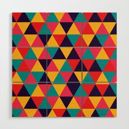 Colorful Triangles (Bright Colors) Wood Wall Art