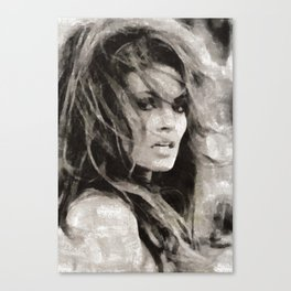 Raquel Welch Portrait Canvas Print