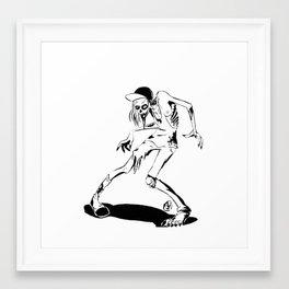 Skater Zombie Framed Art Print
