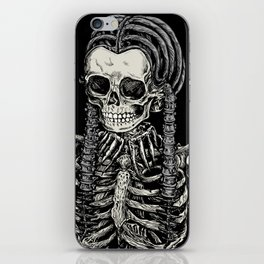 Wednesday Skeleton iPhone Skin