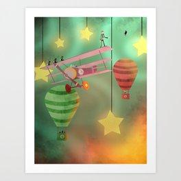 The Sky Show Art Print