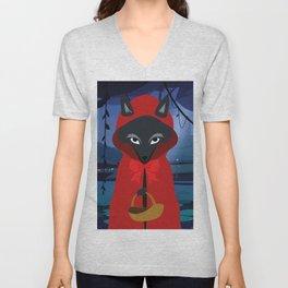 little Red Riding Hood Unisex V-Neck