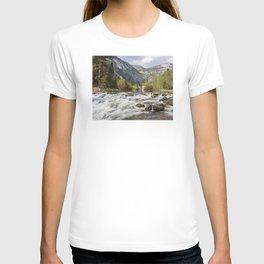 Mirror Lake and Rapids at Yosemite T-shirt