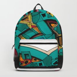 Abstract Graffiti Dance Architectural Illustration 65 Backpack