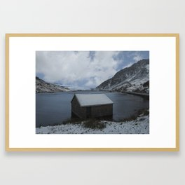 llyn ogwen boathouse Framed Art Print