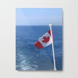Canadian Flag Astern Metal Print