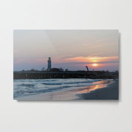 Italy Baccucco Sunset Metal Print