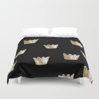 crown Duvet Covers featuring Crown Pattern by Georgiana Paraschiv