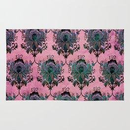 Pink Lotus Damask Rug