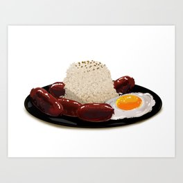 longsilog (pork longganisa, egg, fried rice) -filipino food Art Print