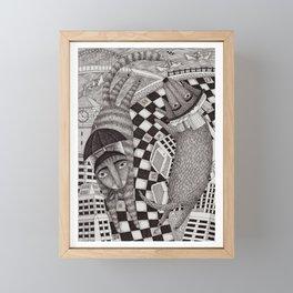 In The City Framed Mini Art Print