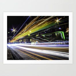 Light Trails 1 Art Print