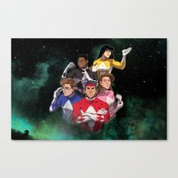 power rangers Canvas Prints featuring Mighty Morphin' Power Rangers by Ranger Danger