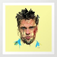 tyler spangler Art Prints featuring Tyler by Marcello Castellani