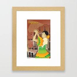 Hispanic Heritage Series - Espana Flamenco Dancer Framed Art Print