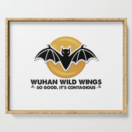Wuhan wild wings so good it's contagious Serving Tray