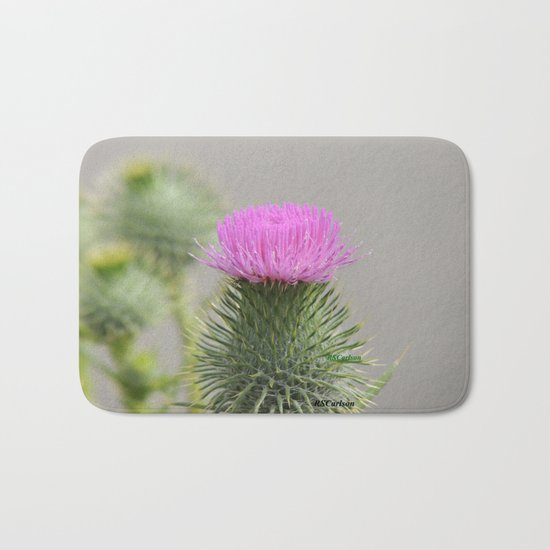 Thistle Bloom Bath Mat