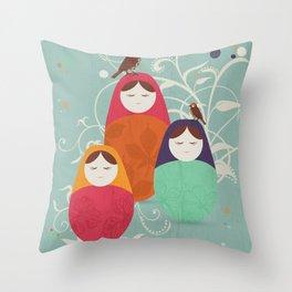 Matryoshka II Throw Pillow