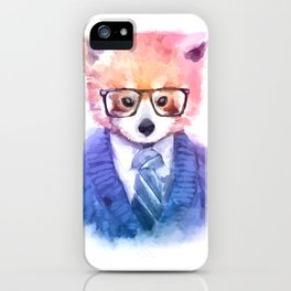 Cute fashion hipster animals pets red panda iPhone Case