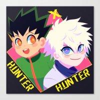 hunter x hunter Canvas Prints featuring Hunter x Hunter by XENVITA